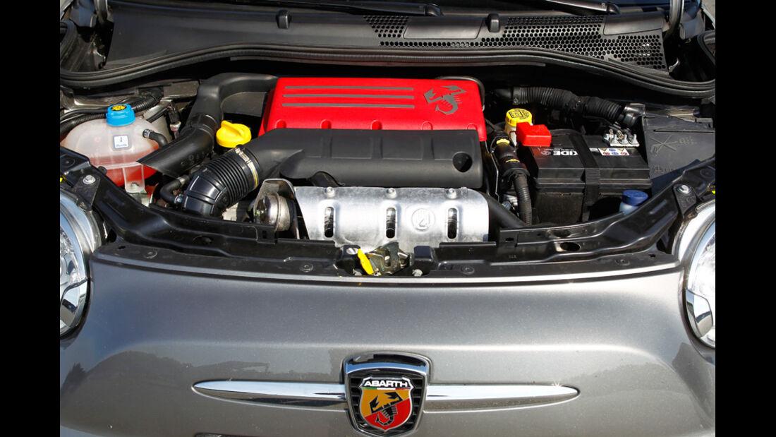 Abarth 500C, Motor, Motorraum