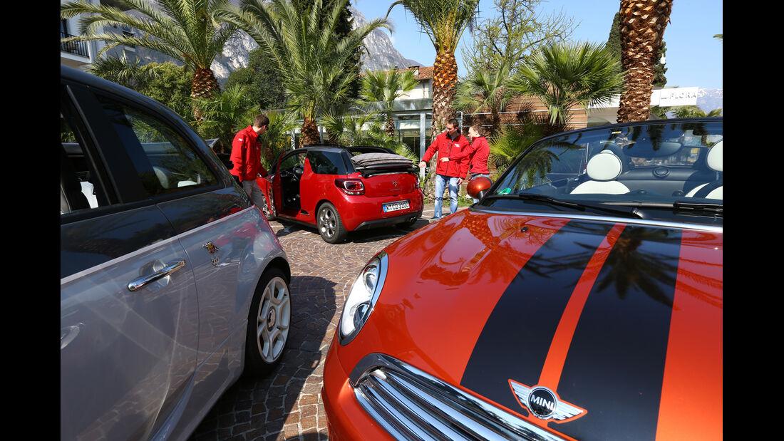 Abarth 595C, Citroën DS3, Mini Roadster, Tester