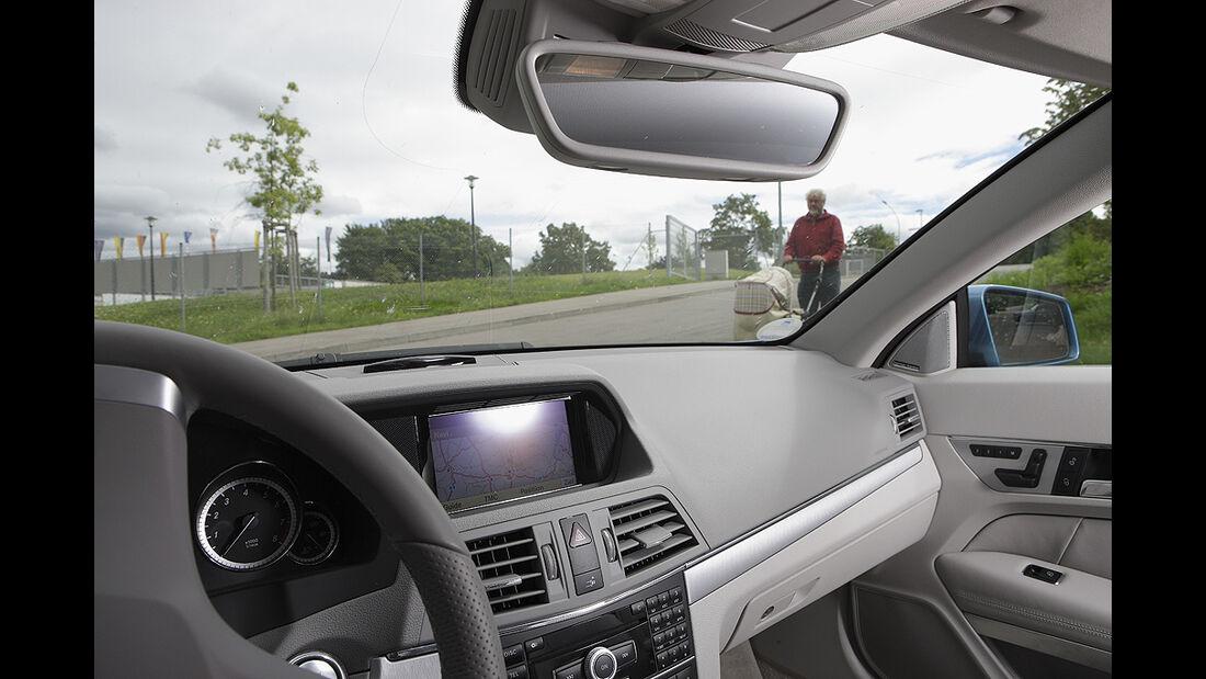 Abbiegesicht, Mercedes E-Klasse Cabrio
