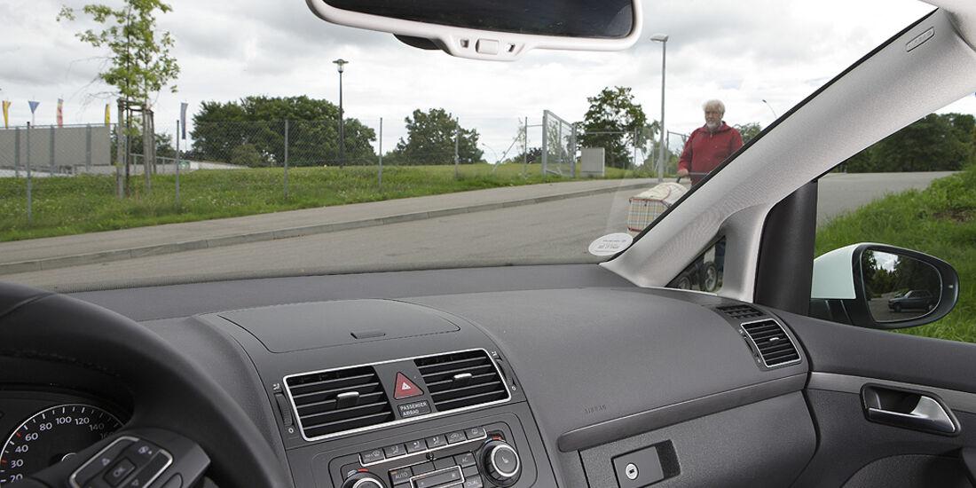 Abbiegesicht, VW Touran