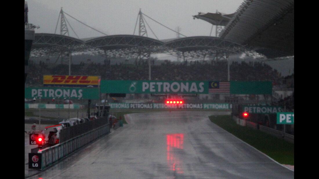 Abbruch GP Malaysia 2012