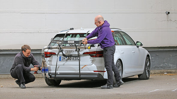 Abgasmessung, Audi A4 Avant