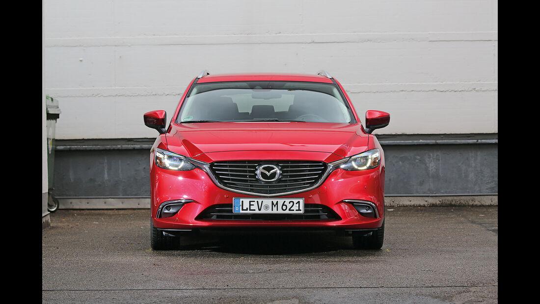 Abgasmessung, Mazda 6 Kombi 2.0