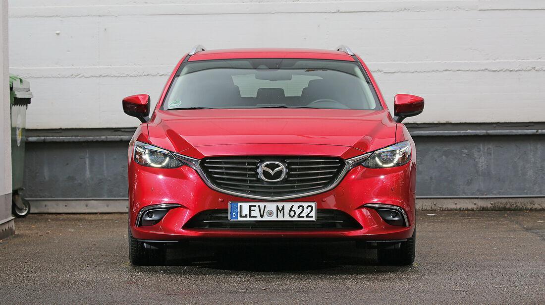 Abgasmessung, Mazda 6 Kombi 2.2 D