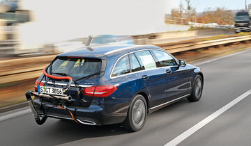 Abgastest auf der Straße, Mercedes C-Klasse, AMS2515