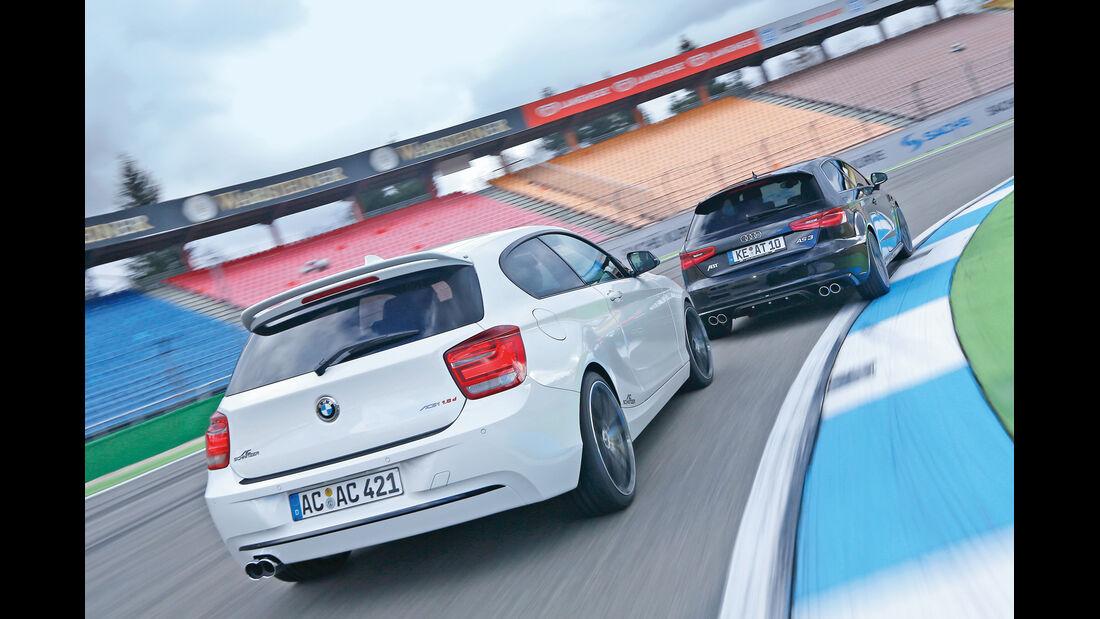 Abt- Audi A3 2.0 TDI, AC Schnitzer-BMW 118d, Heckansicht