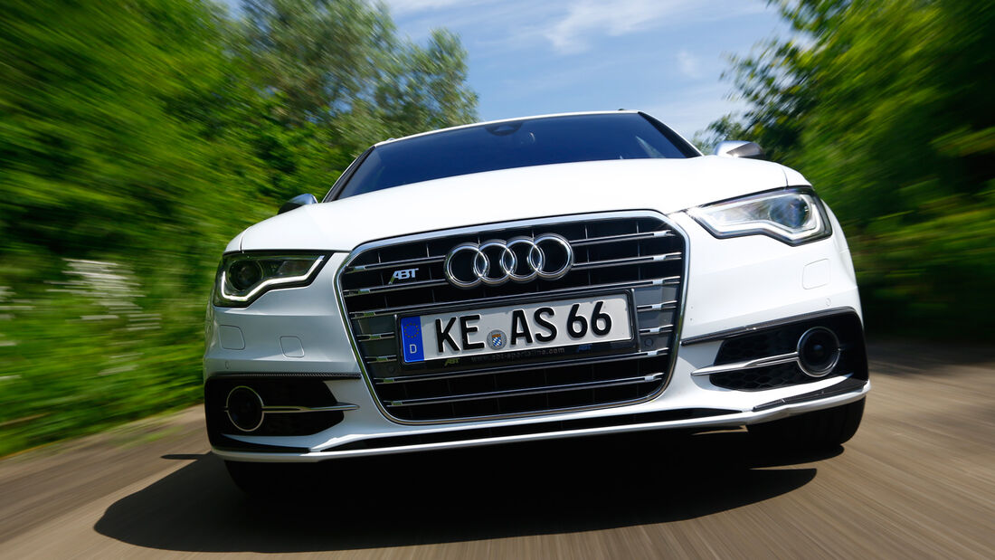 Abt-Audi AS6-R, Kühlergrill, Frontansicht