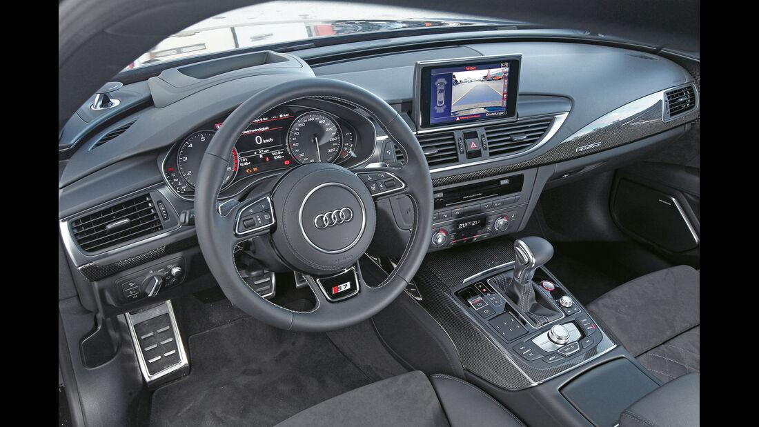 Abt-Audi AS7 Sportback, Cockpit, Lenkrad