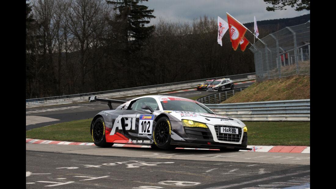 Abt Audi R8 LMS schwarz weiß