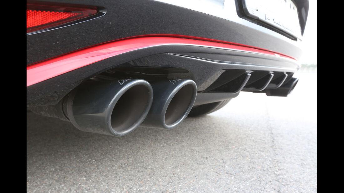 Abt Golf GTI Dark Edition, Auspuff, Endrohre