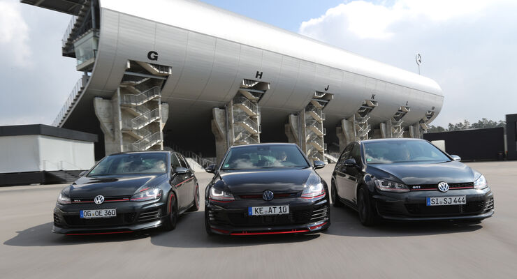 Abt Golf GTI Dark Edition, VW Golf GTI Performance B&B Stufe 2, Oettinger Golf GTI