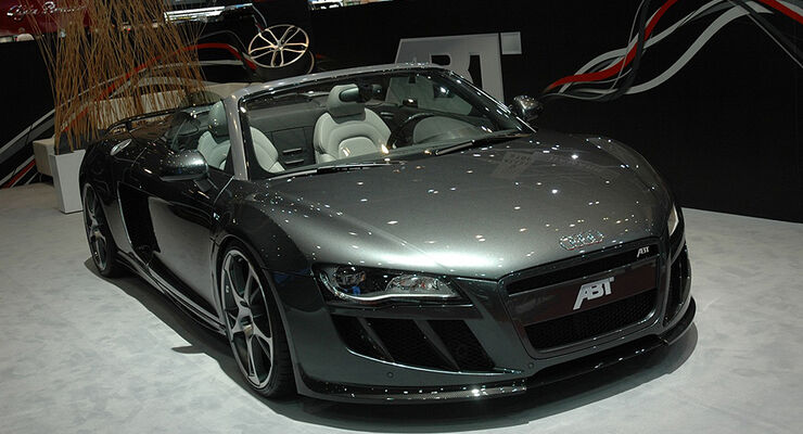 abt audi r8 spyder mit 600 ps sportwagen mit v10 als. Black Bedroom Furniture Sets. Home Design Ideas