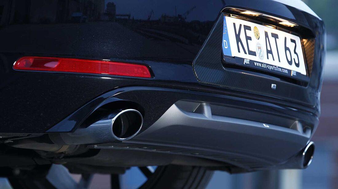 Abt-VW Beetle 2.0 TSI, Heckschürze, Auspuff