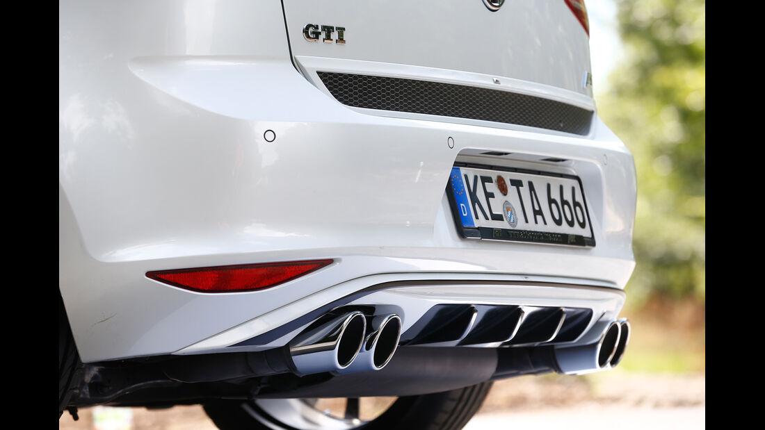 Abt-VW Golf GTI, Auspuff, Endrohr