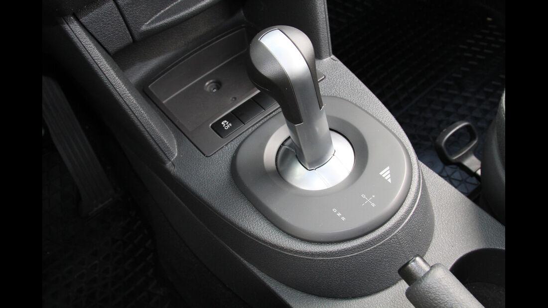 Abt eCaddy - Elektro-Caddy - VW - Elektromobilität - Elektrofahrzeug - Elektroauto - E-Mobilität - Deutsche Post - Wählhebel