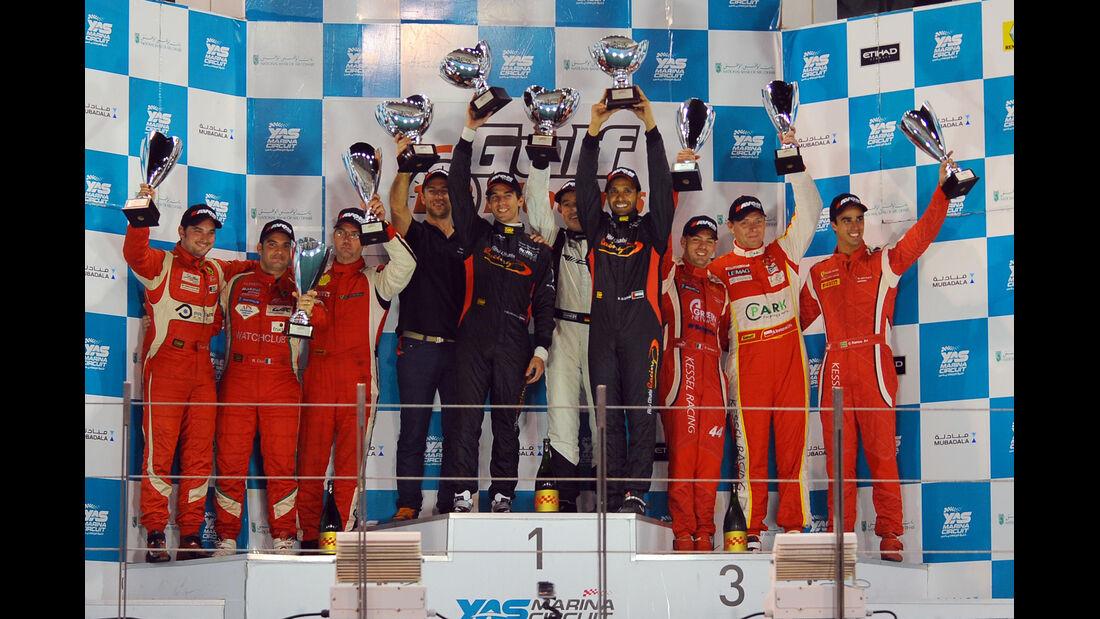 Abu Dhabi, Gulf-12h-Rennen, Siegerpodest