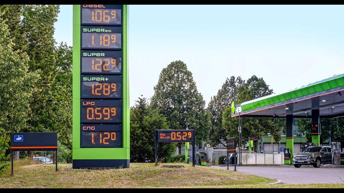 Adblue Preisanzeige Tankstelle