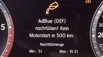 Adblue nachfüllen Meldung im Display VW Touran