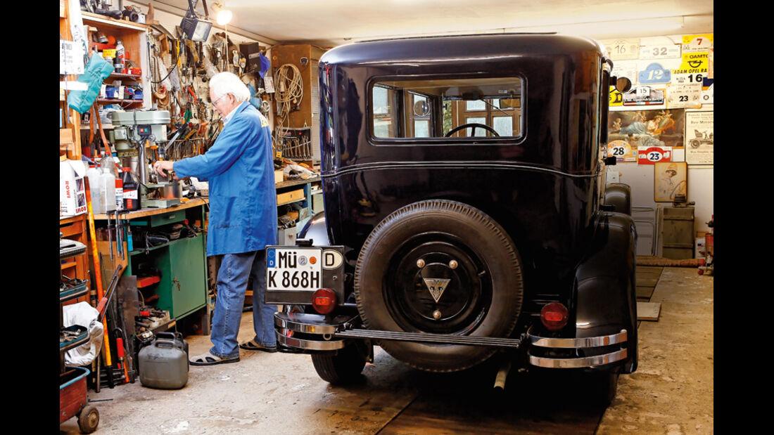 Adler Favorit, Herbert Kessler, Garage