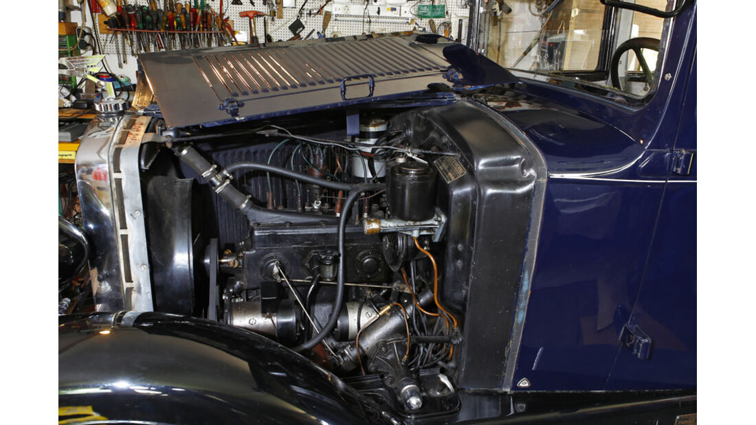 Adler Favorit, Motorraum