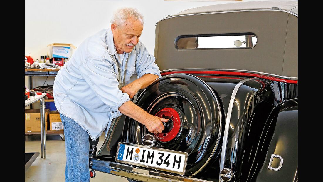 Adler Trumpf Cabrio, Ersatzrad, Bruno Schmaus