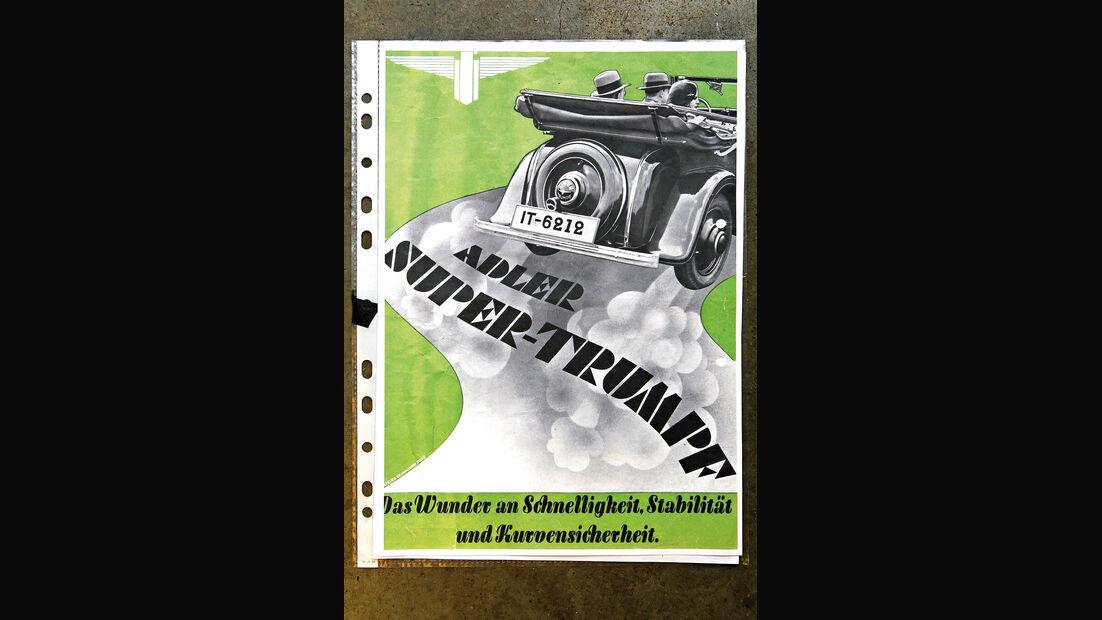 Adler Trumpf Cabrio, Poster