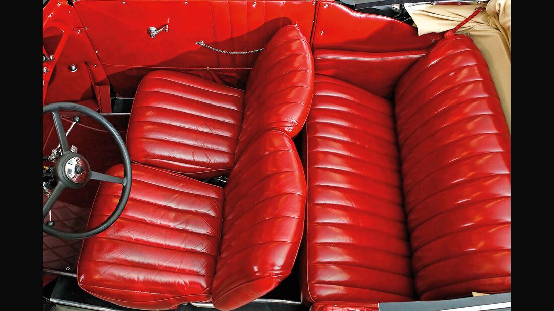 Adler Trumpf Cabrio, Sitze, Interieur