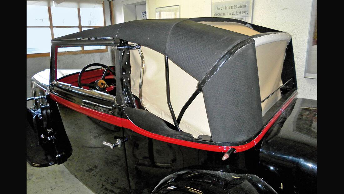 Adler Trumpf Cabrio, Verdeck