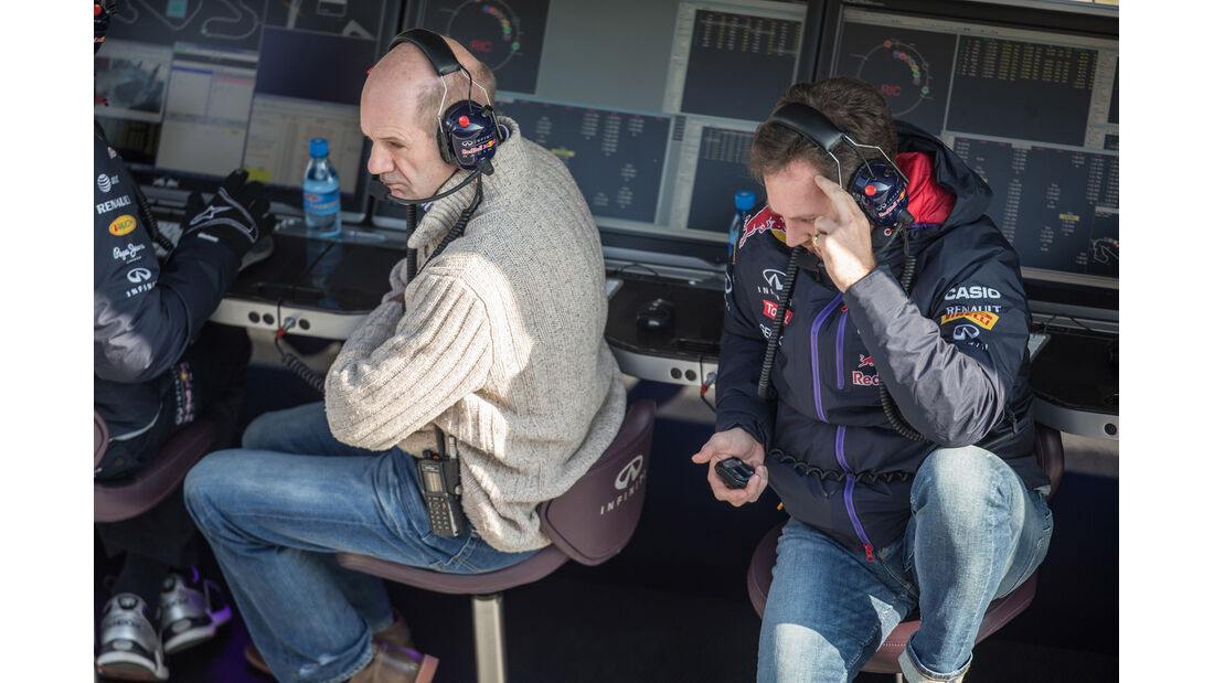 Adrian Newey & Christian Horner - F1-Test Barcelona - 2015