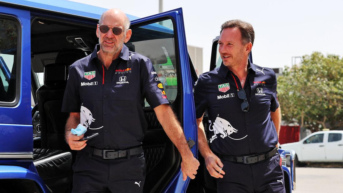 Adrian Newey - Christian Horner - Red Bull - Formel 1 - GP Bahrain - Freitag - 26.3.2021