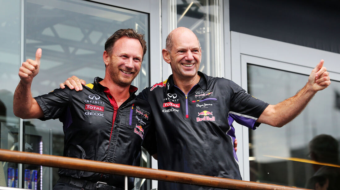 Adrian Newey & Christian Horner - Red Bull - Formel 1 - GP Belgien - Spa-Francorchamps - 23. November 2014