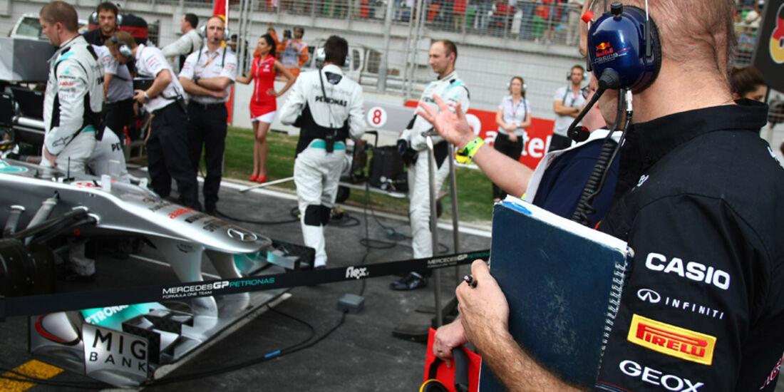 Adrian Newey GP Indien 2011