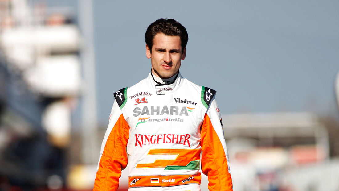 Adrian Sutil F1 Test Barcelona 2013