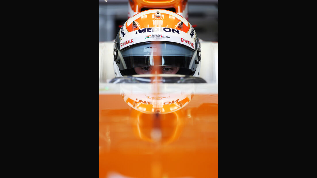 Adrian Sutil Force India F1 Test Barcelona 2013