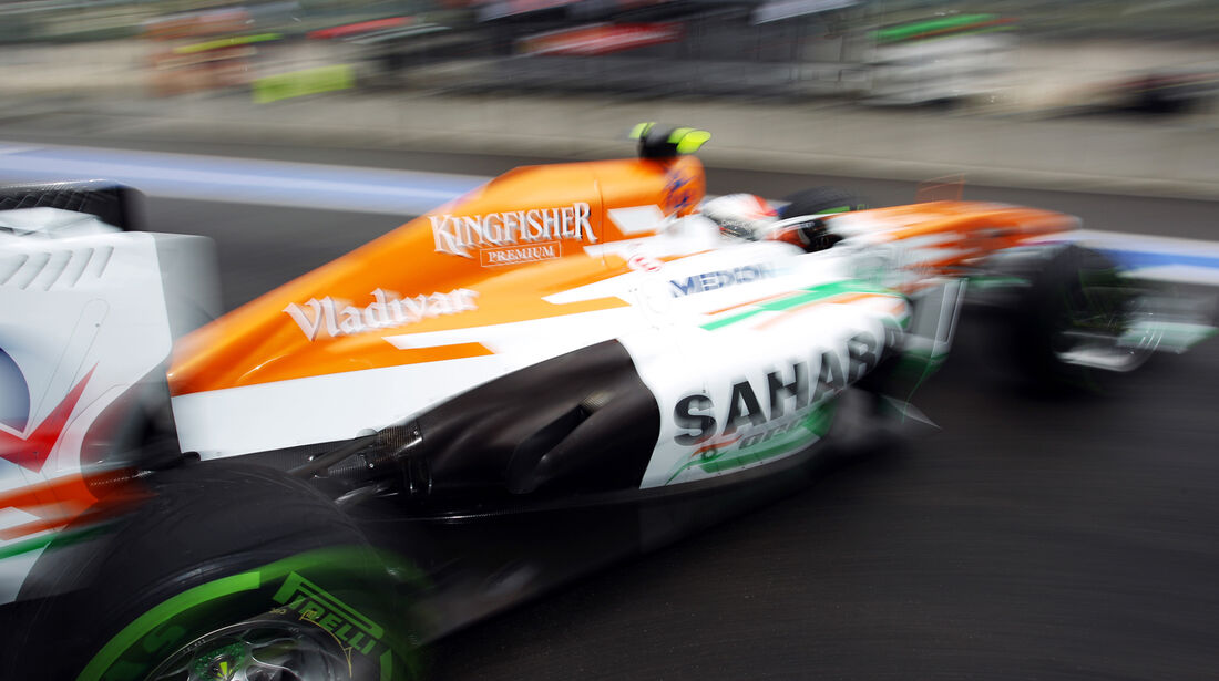 Adrian Sutil - Force India - Formel 1 - GP Belgien - Spa Francorchamps - 23. August 2013
