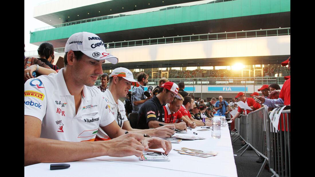Adrian Sutil - Force India - Formel 1 - GP Indien - Delhi - 24. Oktober 2013