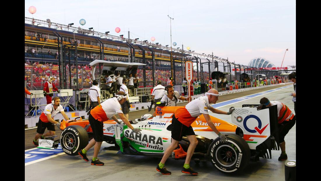 Adrian Sutil - Force India - Formel 1 - GP Singapur - 21. September 2013
