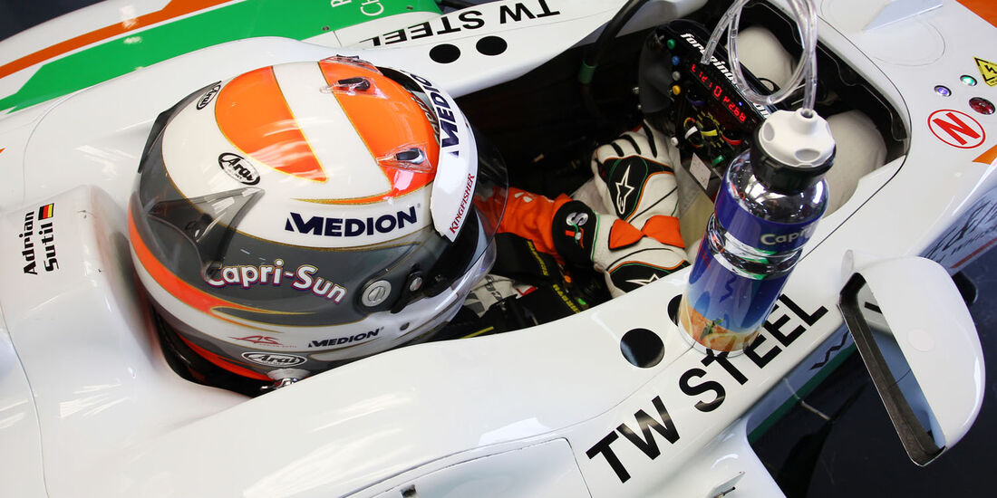 Adrian Sutil, Force India, Formel 1-Test, Barcelona, 01. März 2013