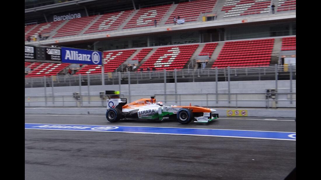 Adrian Sutil - Force India - Formel 1 - Test - Barcelona - 1. März 2013