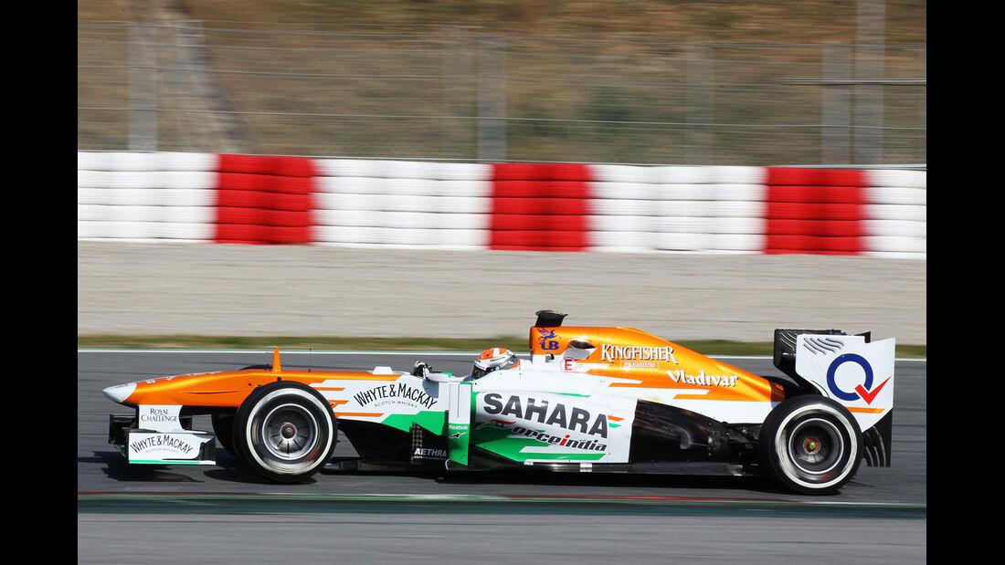 Adrian Sutil - Force India - Formel 1 - Test - Barcelona - 2. März 2013