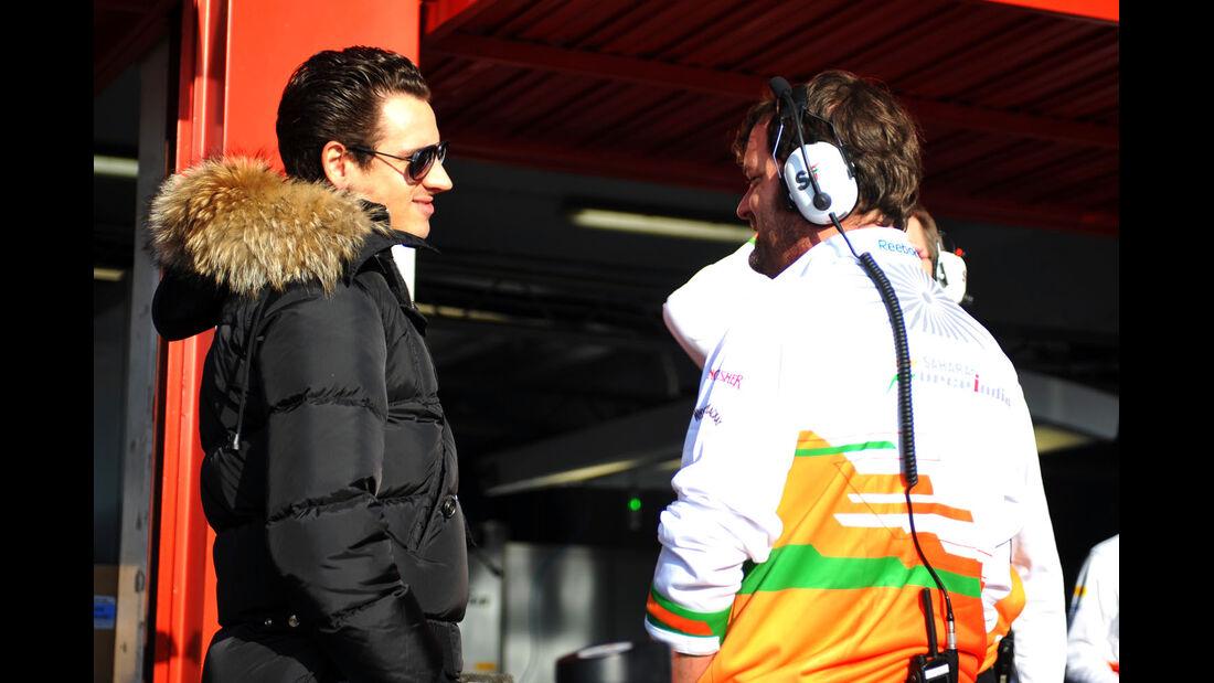 Adrian Sutil, Force India, Formel 1-Test, Barcelona, 20. Februar 2013