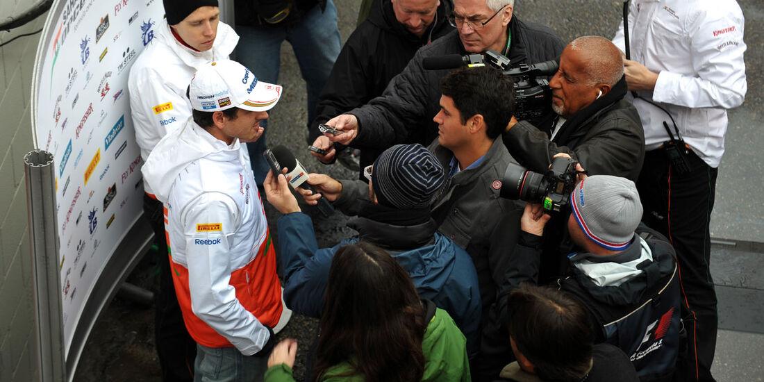 Adrian Sutil, Force India, Formel 1-Test, Barcelona, 28. Februar 2013