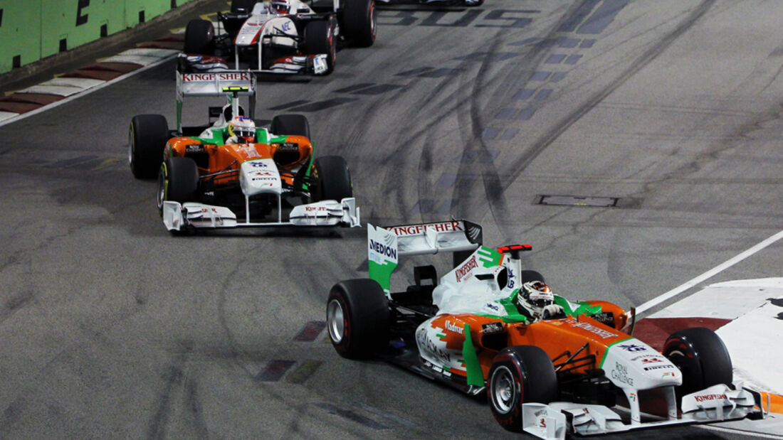 Adrian Sutil Force India GP Singapur 2011