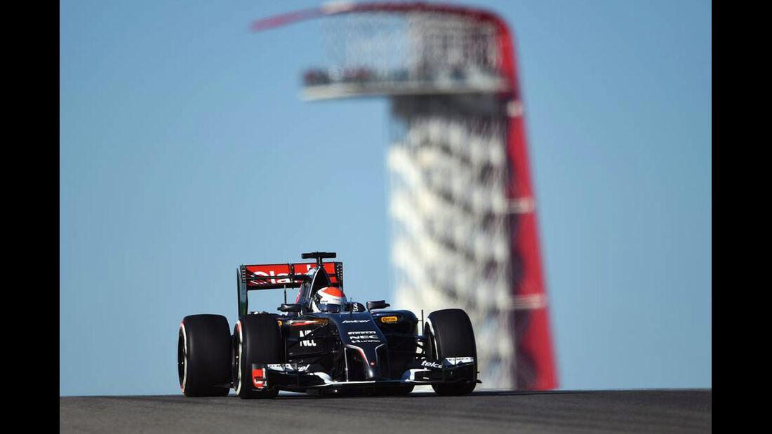 Adrian Sutil - Formel 1 - GP USA - 31. Oktober 2014