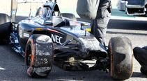 Adrian Sutil - Jerez Test - Crashs 2014