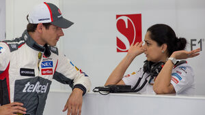 Adrian Sutil & Monisha Kaltenborn - 2014