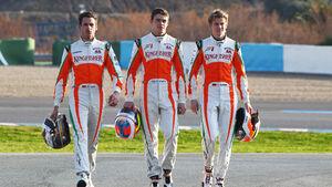 Adrian Sutil, Paul di Resta und Nico Hülkenberg