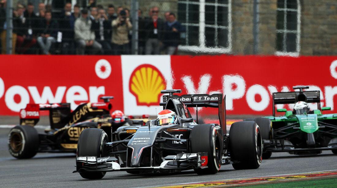 Adrian Sutil - Sauber - Formel 1 - GP Belgien - Spa-Francorchamps - 23. November 2014