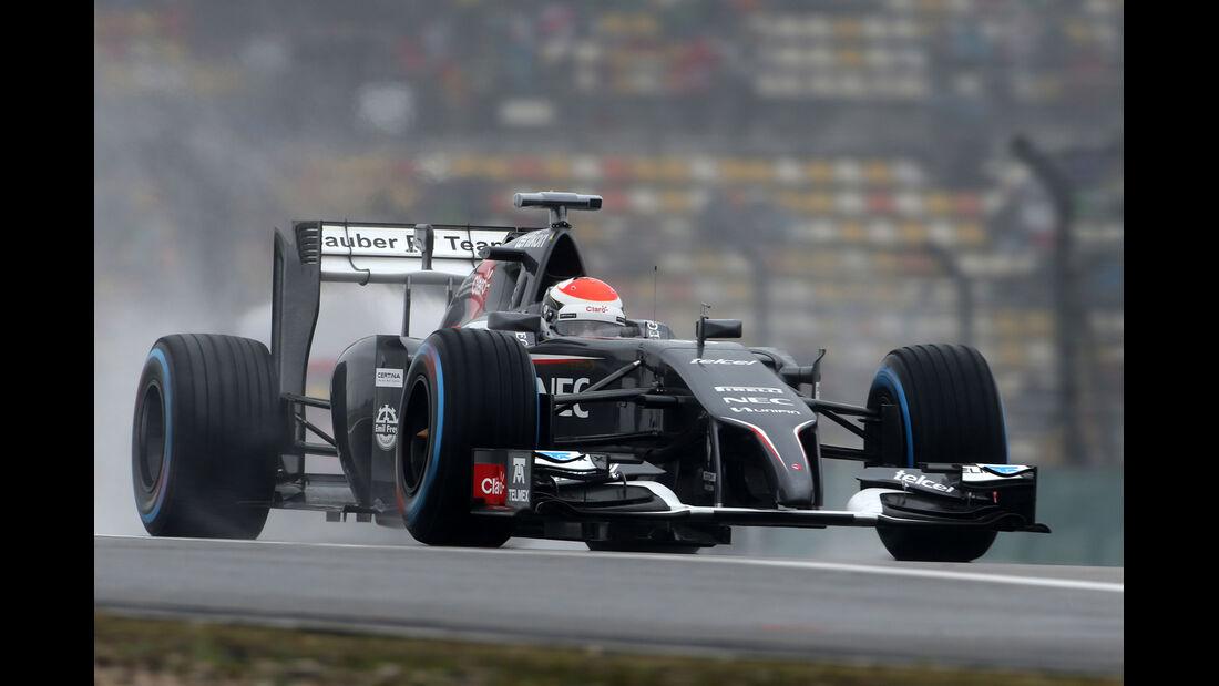 Adrian Sutil - Sauber - Formel 1 - GP China - Shanghai - 19. April 2014