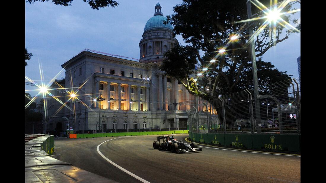 Adrian Sutil - Sauber - Formel 1 - GP Singapur - 20. September 2014